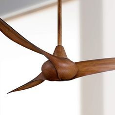 """52"""" Minka Aire Wave Distressed Koa Ceiling Fan This ceiling fan pairs contemporary design with tropical style. Smooth lines add a touch of elegant modernity, while the distressed koa finish recalls the rich Hawaiian landscape. ABS blades add versatility to this design. ceiling fan ideas, bronze ceiling fan designs, ceiling fan for bedroom, patio ceiling fan, ceiling fan for home, distressed ceiling fan ideas"""