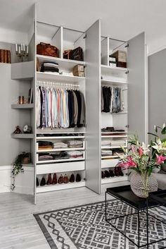 Most apartments don't have enough closet storage so built-in wardrobes are a must—especially ones with tons of shelving. #HomeDecor #DreamCloset