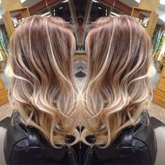 Blonde and Brown Hair - medium hairstyles- shoulder length hairstyles