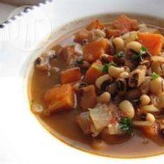 Sopa apimentada de batata-doce e feijão fradinho @ allrecipes.com.br