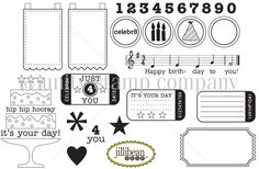 Kit includes 17 stamps. un-mounted deeply etched red rubber stamps. the stamps are pre-cut and mounted on repositionable cling foam. they can be used with any acrylic block or unity handle.