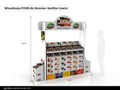 POS / Floor display for sweet jams on Behance