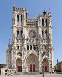 Cathédrale Amiens, France. West-side. 1220-1288