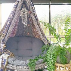 Do this with the papasan chair and some tapestry #PapasanChair