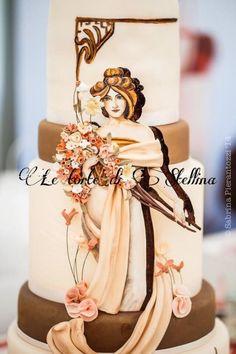 Mucha cake...della mia amica Grazia Stellina <3, secondo posto CDIF competition, Roma 2014