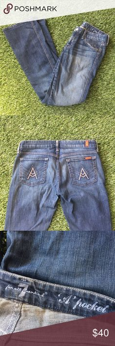 7FAM A Pocket jeans 7FAMK jeans in great condition. A pocket style, meaning a cool back pocket design and flare cut. 7 For All Mankind Jeans Flare & Wide Leg