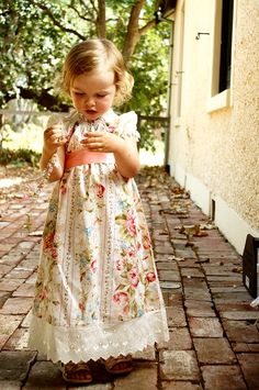 Girls dress vintage shabby chic lace french rose by OhVeronicaGirl, $49.95 baby girl #baby girl