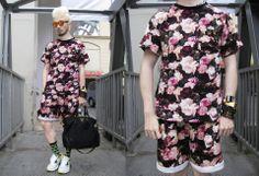 Supreme Floral Shirt and Shorts Set Prada Tote, Kimono Top, Floral Prints, Short Sleeve Dresses, Street Style, Shirt Dress, Shorts, Frames, Tees