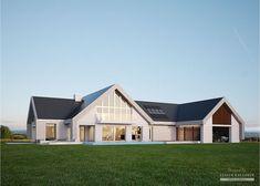 Projekt domu LK&1140 Modern House Floor Plans, Modern House Design, House Plans, Village House Design, Village Houses, Dormer House, House Extension Design, Bungalow Renovation, Cottage Design