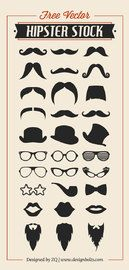 Cool Hipster Set Silhouette