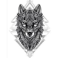 Creative wolf sketch