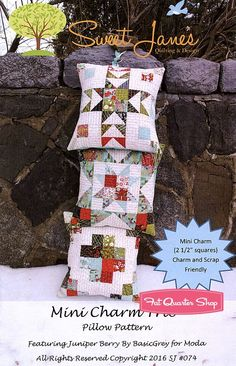 Mini Charm Trio Pillow Pattern Sweet Jane's Quilting and Design #SJ-074 | Fat Quarter Shop