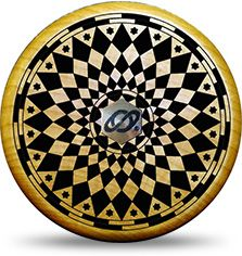 """Optic Star No Jive 3 in 1 Yo-Yo. The """"Optic Star"""" is first in a new series of skillfully crafted hard maple wood yo-yos enhanced with impeccable laser carved designs from Tom's legendary design studio."""