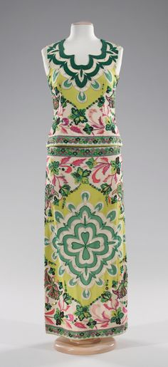 Emilio Pucci evening dress ca. 1966 silk, rhinestones - This makes me sant to have tea at the Hotel Roanoke. Of course I'd have to steal it from The Met first.