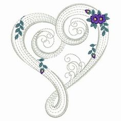 Rippled Floral Hearts 8 - 3 Sizes! | Floral - Flowers | Machine Embroidery Designs | SWAKembroidery.com Ace Points Embroidery