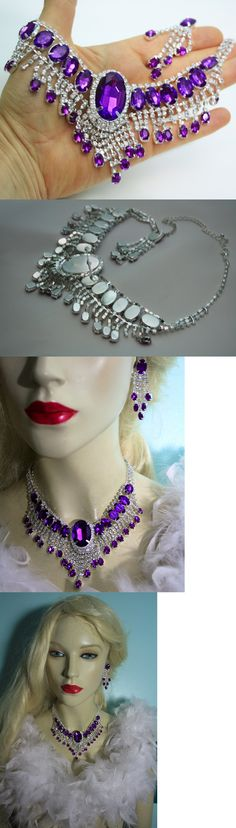 Jewelry Sets 50692: Purple Rhinestone Austrian Crystal Choker Necklace Earring Set Pageant Bridal -> BUY IT NOW ONLY: $37.99 on eBay!