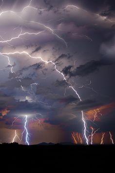 West Texas Multiple Lightning by Osman Şahin Photography