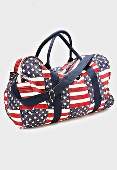 A personal favorite from my Etsy shop https://www.etsy.com/listing/292445837/american-flag-canvas-tote-bag-womens