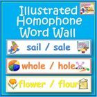 This Illustrated Homophone Word Wall set includes:- 47 Word wall cards with pairs of homophones (some triplets too).- A homophone definition post...$