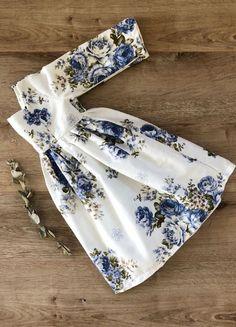 Handmade Blue Rose Floral Meadow Dress | MiyaAndMa on Etsy