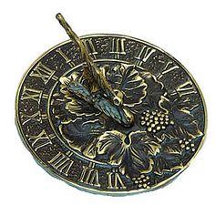 Brass Sundial - Grapevine