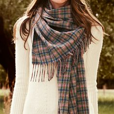 You can never have too many scarves, and this cashmere plaid is definitely on our wish list.