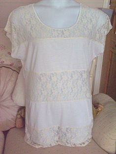 Ex~Evans Lacey Panelled Tunic Top, Size 16/18, NEW STOCK!!
