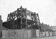 Never-before-seen shots show Blackpool Tower being built 125 years ago Blackpool Promenade, Blackpool Beach, Eddie Stobart Trucks, Blackpool England, Shot Show, Tower Building, Paris Eiffel Tower, Vintage Photography, Old Pictures