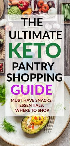 The Ultimate Keto Pantry Shopping Guide is the perfect list for beginners and ve. The Ultimate Keto Pantry Shopping Guide is the perfect list for beginners and veterans of the ketog Ketogenic Diet Starting, Ketogenic Diet For Beginners, Keto Diet For Beginners, Keto Diet List, Ketogenic Diet Food List, Diet Menu, Ketogenic Breakfast, Breakfast Menu, Keto Meal
