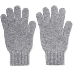Johnstons of Elgin Cashmere gloves ($45) ❤ liked on Polyvore featuring accessories, gloves, light gray, johnstons of elgin and cashmere gloves
