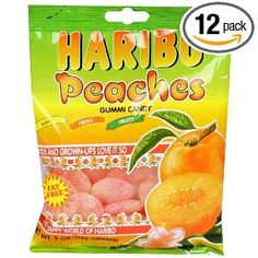 Definitely one of the top gummy candy options around!  Haribo -> Peaches