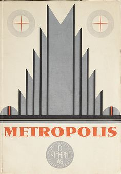 Designed by Willy Schwerdtner, ca.1929, Metropolis, Berlin. (G)
