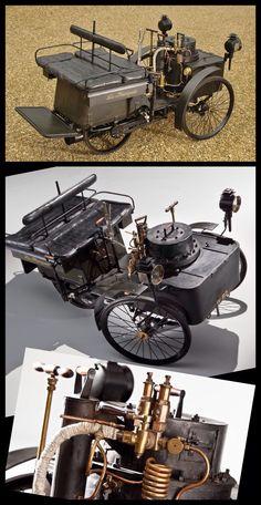 1884 De Dion Bouton Et Trepardoux Dos-A-Dos Steam Runabout is the #oldest…
