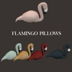 Lana CC Finds - Flamingo Pillow by Leosims