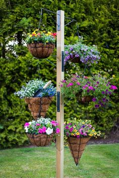 Do you want to grow herbs all year long? You can do it in your garden using hanging garden. Hanging garden is essential in a home, from supply when need herbs for cooking to beautifies your home. All of that can be achieved with hanging garden. Diy Garden, Garden Projects, Garden Art, Garden Landscaping, Landscaping Ideas, Garden Boxes, Garden Tips, Diy Projects, Garden Privacy