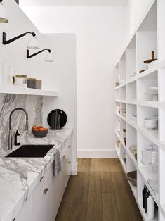 Modern minimal pantry | Designed by architects Rios Clementi Hale | Interiors by Nicole Hollis | DPages