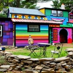 25 Wild and Wonderful Fantasy Homes, like living in a rainbow (via The Flying Tortoise).