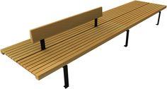 LINEA 382 - wooden bench for urban landscape