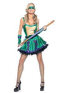 7f6ed75b2e4 Ninja Babe Costume S M - Be Wicked Costumes 3 Piece Ninja Babe includes  stretched lycra turtle dress