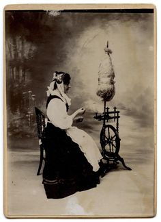1907 Montbéliard Franche Comté Métier Ancien Fileuse AU Rouet   eBay