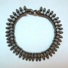 Antique Indian Silver Anklet Rajasthani Style - Vintage Boho Gypsy Jewelry…