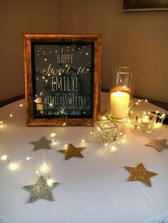 S'mores Bar, Stars, Twinkle Lights, Paper Lanterns, Starry Sips Sweet 16 Party Ideas | Photo 2 of 39