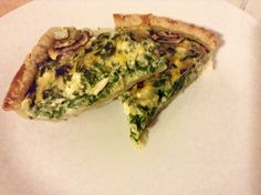 Never get tired of making my spinach,feta and mushroom quiche