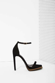 Jeffrey Campbell Tropicana Suede Heel - Black | Shop Shoes at Nasty Gal!