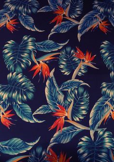 Prints, wallpapers and patterns: The taste of Petrol and Porcelain   Interior design, Vintage Sets and Unique Pieces