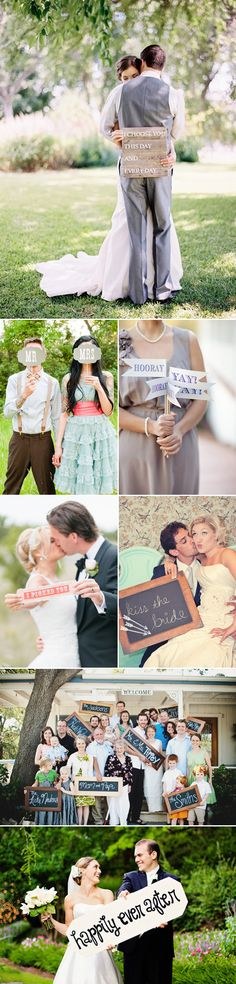 Spell Out Your Love! 46 Fun Wedding Signs - Photo Props