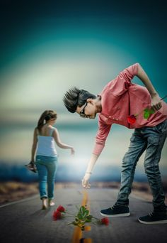 Make Perfect Feel Real: Loveness Creative Photo Manipulation Cute Couples Photography, Photography Poses For Men, Alone Photography, Best Photo Background, Studio Background Images, Blur Background In Photoshop, Photoshoot Pose Boy, Dehati Girl Photo, Photo Poses For Boy