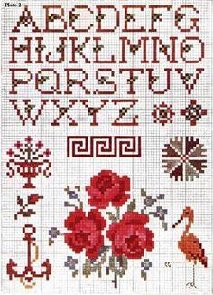 Priscilla Colored Cross Stitch Book No. Cross Stitch Alphabet Patterns, Cross Stitch Letters, Cross Stitch Books, Cute Cross Stitch, Cross Stitch Rose, Cross Stitch Samplers, Cross Stitch Flowers, Cross Stitch Charts, Cross Stitch Designs