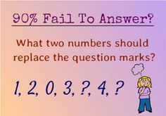 Solve Number Puzzle : 1, 2, 0, 3, ?, 4, ? | Fun Things To Do When Bored