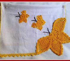 Crochet Lace Edging, Crochet Borders, Crochet Doilies, Crochet Patterns, Crochet Butterfly, Butterfly Wings, Crochet Flowers, Baby Sewing Projects, Crochet Projects